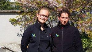 Marietta Rose (l) und Katja König (r) von der Potsdamer Garten Gestaltung GmbH. Bild: Antenne Brandenburg