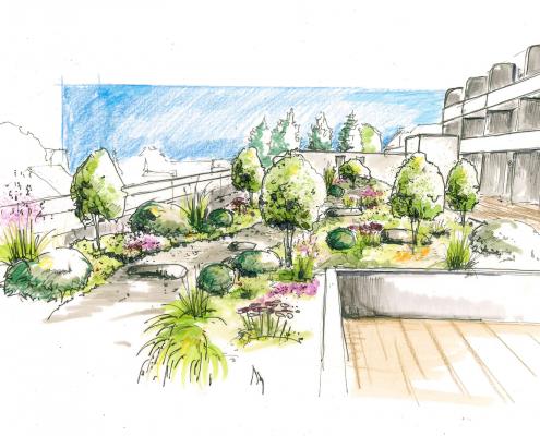 Planung von Dachgärten und Dachterrassen