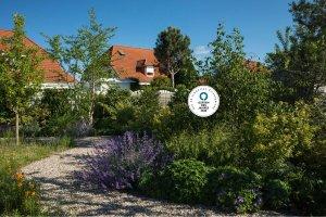 Gartenterrasse aus Naturstein, Travertin