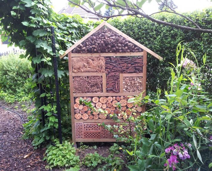 Insektenhotel bringt viel Vorteile