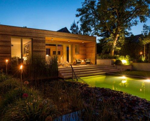 Wellness-Garten Effektbeleuchtung