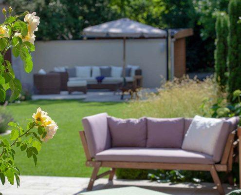Terrasse mit Sitzecke Garten