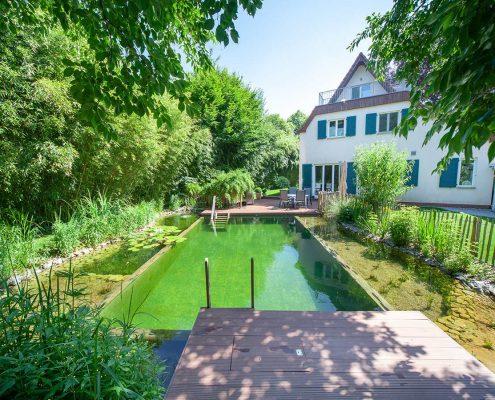 Hausgarten mit Schwimmteich